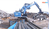 卡特彼勒320E挖掘机废铁回收