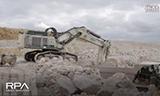 利勃海尔 R984 挖掘机在采矿场