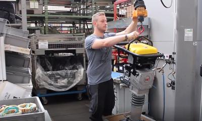 威克诺森首台电驱震动冲击夯 低碳高效赢人心