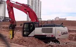 林克贝特350X4挖掘机和装载机