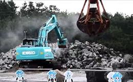 神钢SK200-9挖掘机粉碎石头
