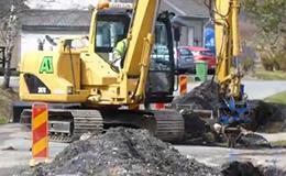 卡特彼勒307C挖掘机与SMP倾斜仪