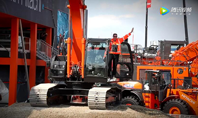【D1CM视界】日立建机bauma2019展台让你激情盎然