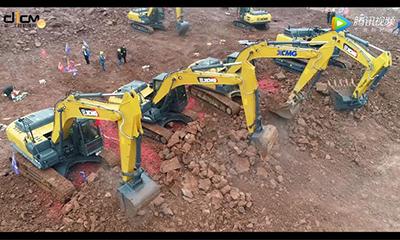 试驾徐工XE490DK挖掘机——有了徐工,赚钱轻松
