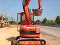 红色神钢50ur挖掘机视频