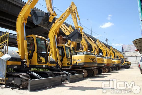 玉柴挖掘机在云南市场占据优势