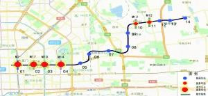 北京地铁有3号线示意图