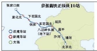 京张高铁正线设10座车站