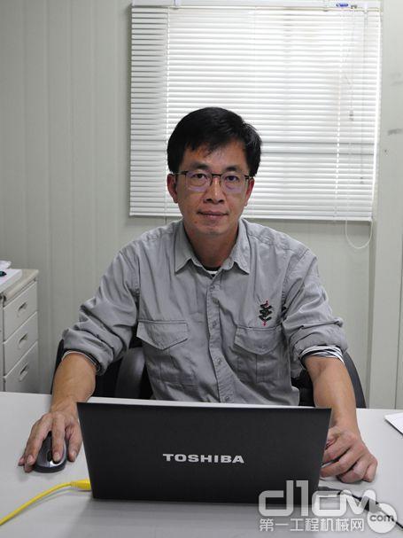 台湾大陆工程公司C2标段仁水隧道公务所专案经理林峻弘先生