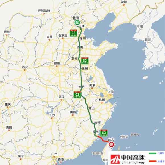 京台高速规划图