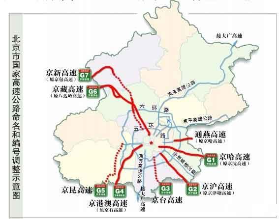 《国家高速公路网规划》中的7条首都放射线