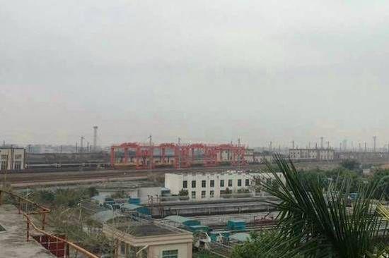 图为广东(石龙)铁路国际物流基地项目远景