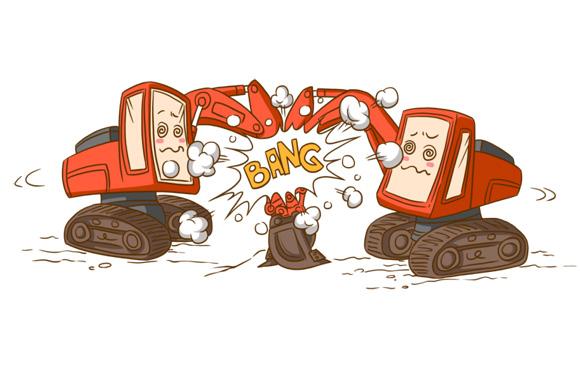 两机同时驾驶请注意安全范