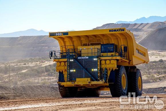 小松家族中最大的非公路矿用自卸卡车 980E-4全新上市