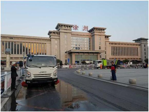 中联重科环卫机械产品交付江苏徐州市