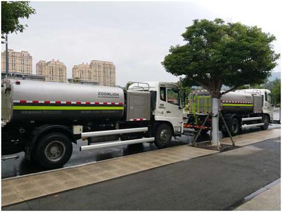 中联重科明星环卫产品洗扫车为助力美丽徐州服务