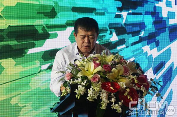 内蒙古天宇创新投资集团董事长安勇作为用户代表表示对徐工矿用机械产品非常满意。