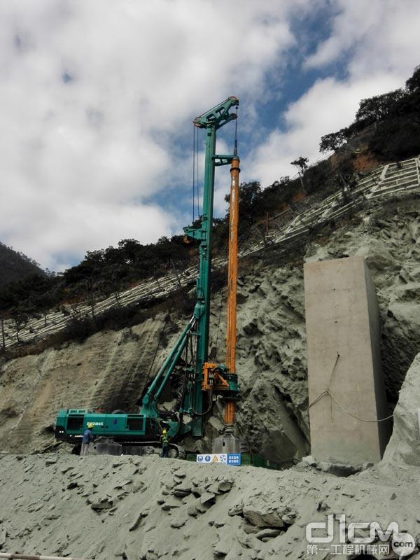 山河智能SWDM45旋挖钻助建国内首座铁路悬索桥