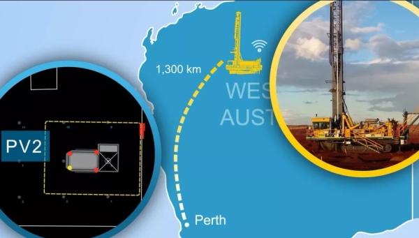 在1300公里以外远程操作钻机