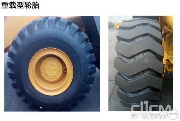 前、后轮胎率先标配18层级矿山轮胎
