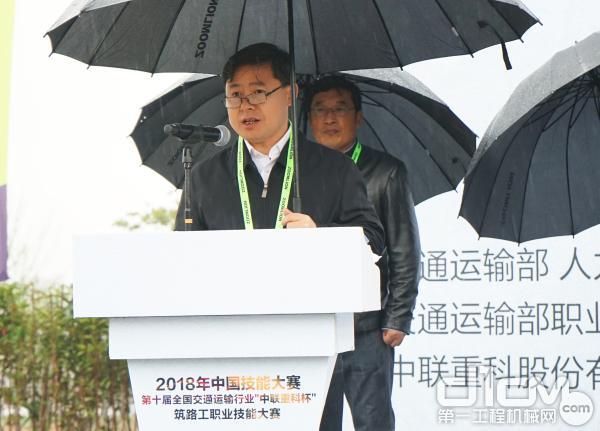 大赛组委会副主任兼秘书长、交通运输部职业资格中心副主任朱传生