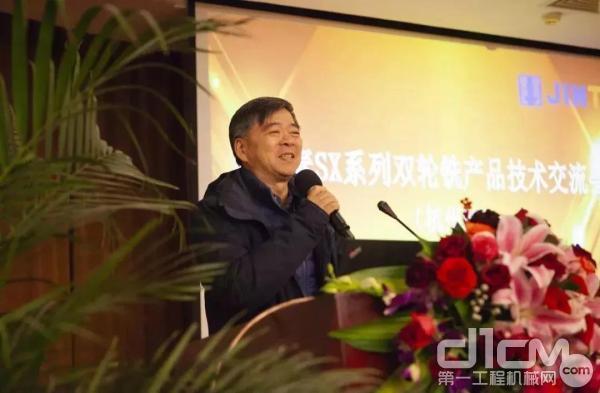 上海金泰总经理林坚现场致辞