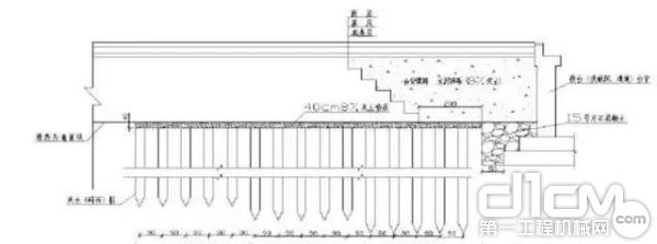 图:台背灰土桩施工断面