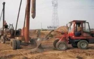 图:灰土桩施工