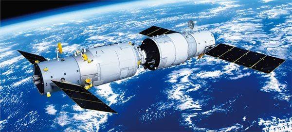 """图为2017年4月22日,天舟一号货运飞船与天宫二号空间实验室交会对接,中国航天稳步迈向""""空间站时代""""。 工业和信息化部供图"""
