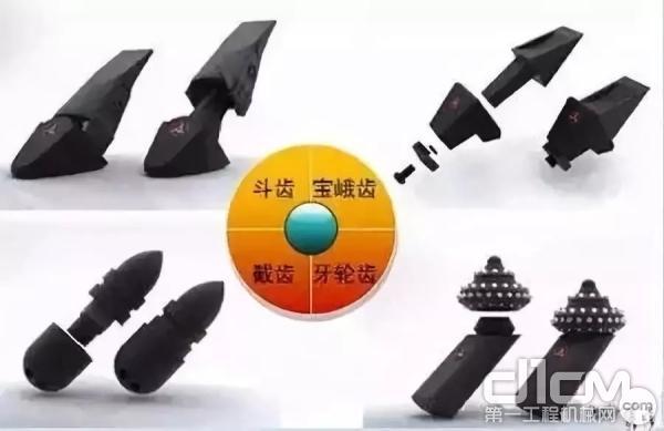 目前常见的钻齿有四类(上图)