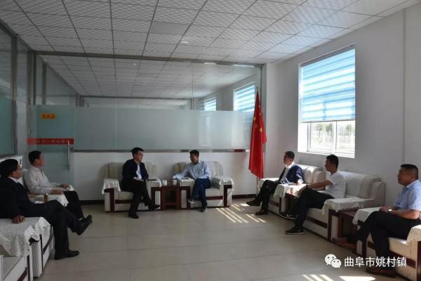 福田雷沃重工集团总经理助理王作成赴曲阜市姚村镇参观考察