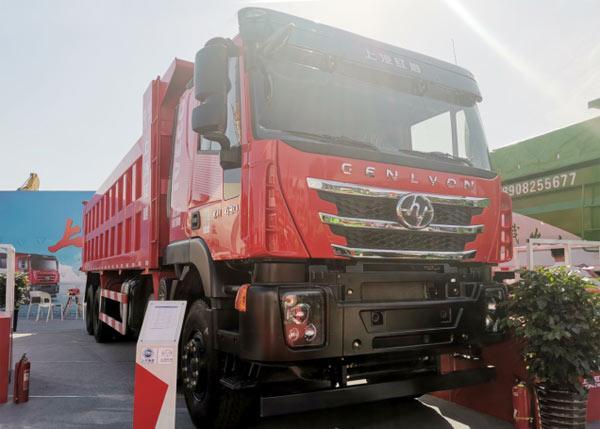 红岩杰狮8×4砂石料运输车
