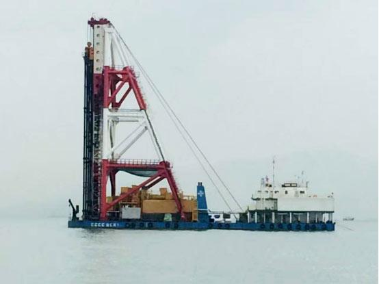 山推建友为港珠澳大桥设计的混凝土搅拌站