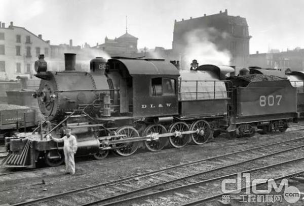 图为19世纪60年代美国铁路获得了极大发展