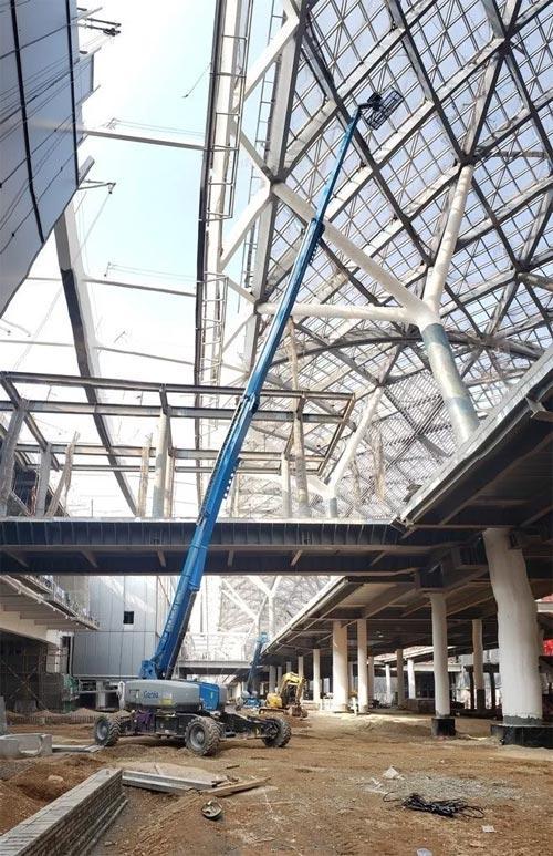 吉尼高空作业平台设备在现场施工