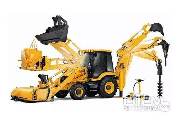 """俗称""""两头忙""""的<a href=http://product.d1cm.com/wajuezhuangzaiji/ target=_blank>挖掘装载机</a>"""