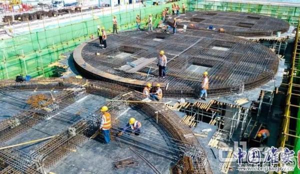 容西混凝土搅拌站项目施工现场