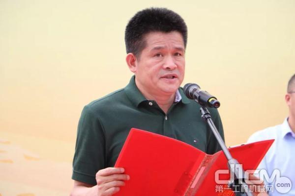 山东临工总裁于孟生发表讲话