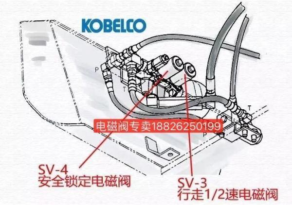 神钢SK60挖掘机电磁阀