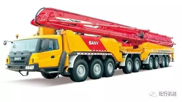 三一86米臂架混凝土泵车