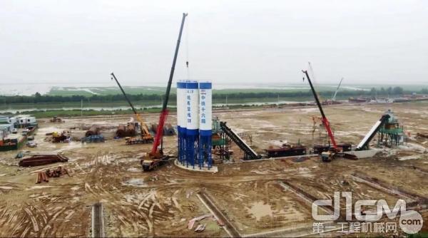 三一起重机助力中国智慧工程杭绍甬高速建设