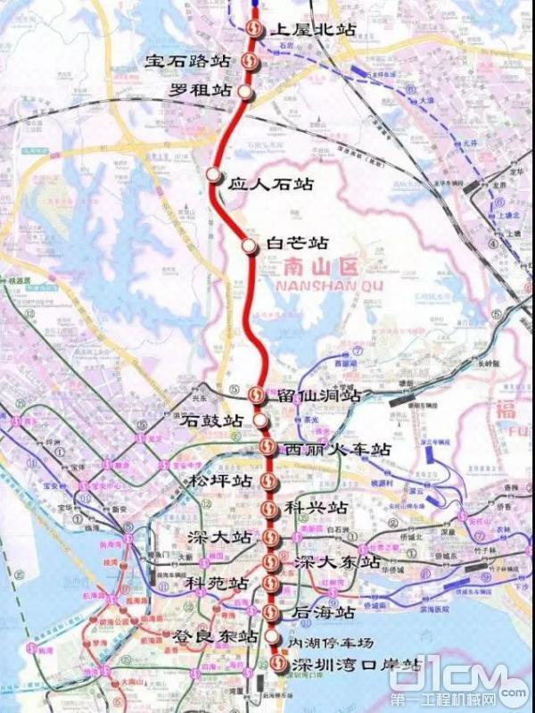 深圳地铁13号线工程线路平面图