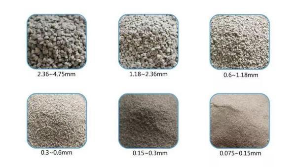 不同直径砂粒