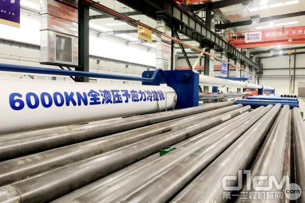 亚洲最长6000KN全液压予应力冷拔机在徐工液压建成投产
