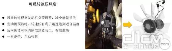 E400LC挖掘机可反转液压风扇