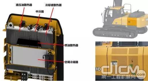E400LC挖掘机拥有卓越的散热系统