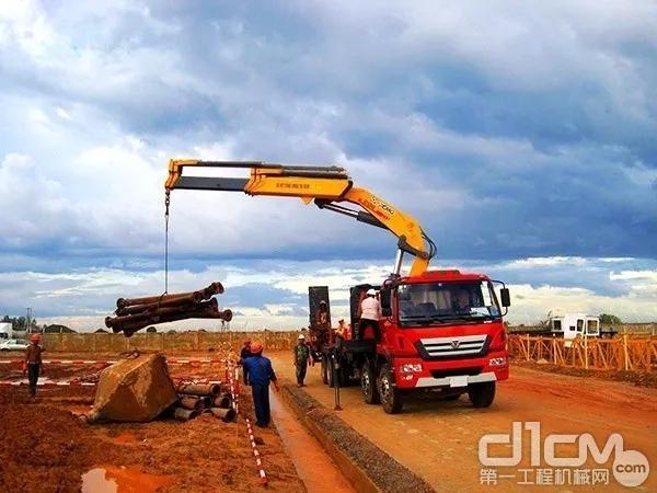 徐工随车起重机助力柬埔寨最大火电项目