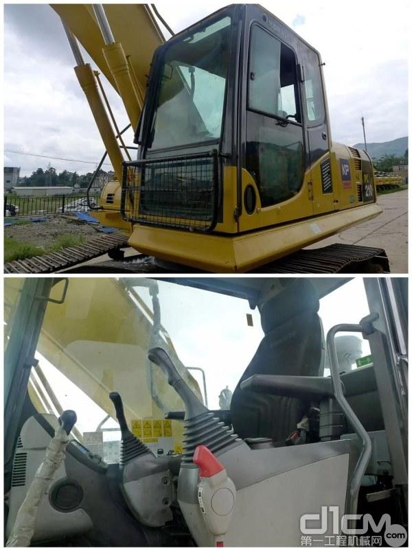 小松PC210-8M0挖掘机驾驶室