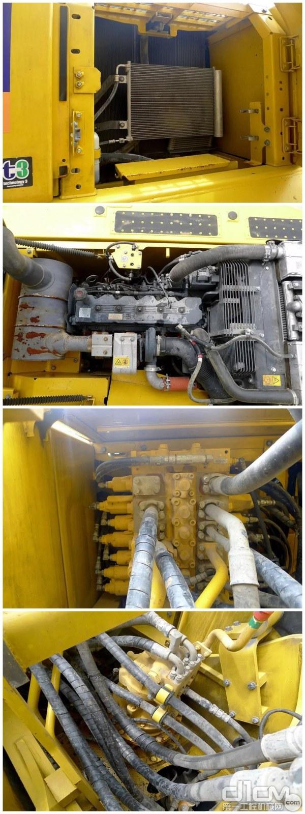 小松PC210-8M0挖掘机大件舱室