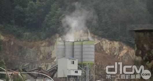 混凝土生产过程中出现的扬尘